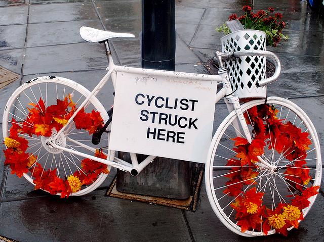 Ghost Bike, taken by flickr user M.V. Jantzen