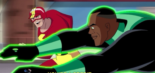 still from Justice League animated series episode Legends