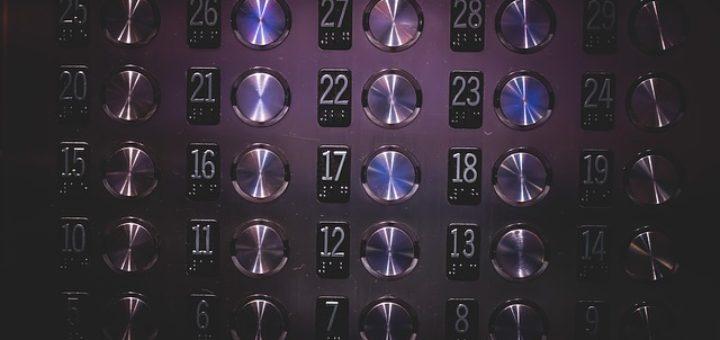 modern elevator buttons